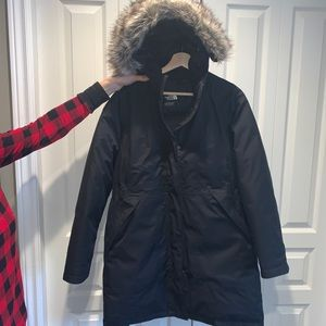 Black North Face Parka
